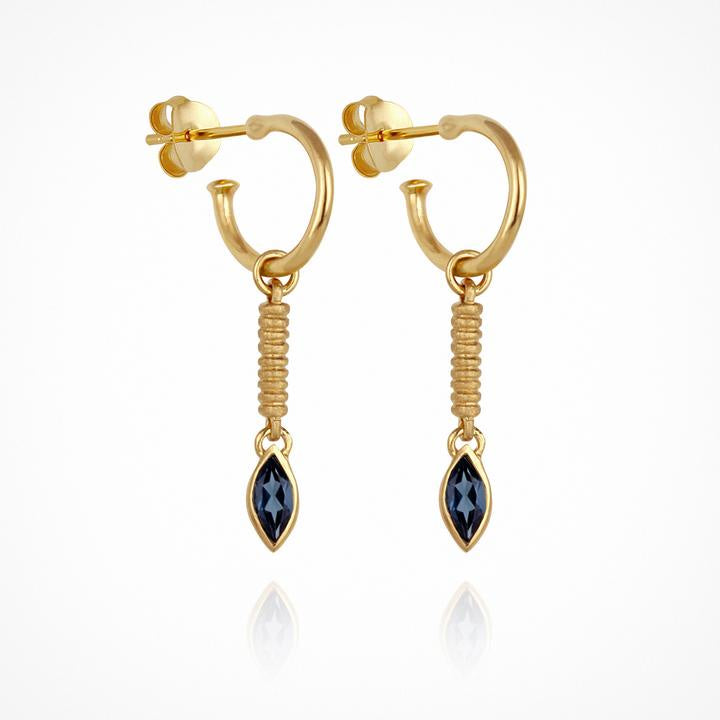 Temple of the Sun Femi Earrings Gold - The Artisan Storeroom