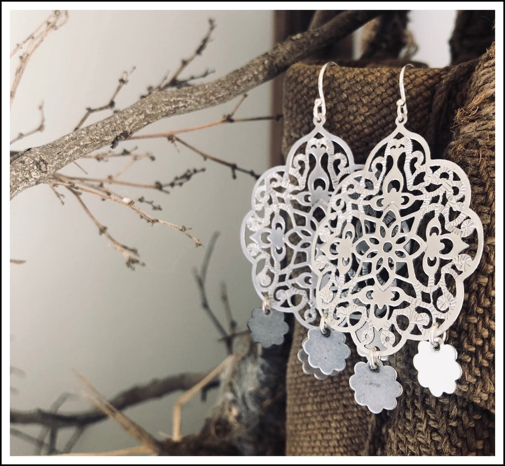 Paird Three Charm Filigree Earrings - The Artisan Storeroom