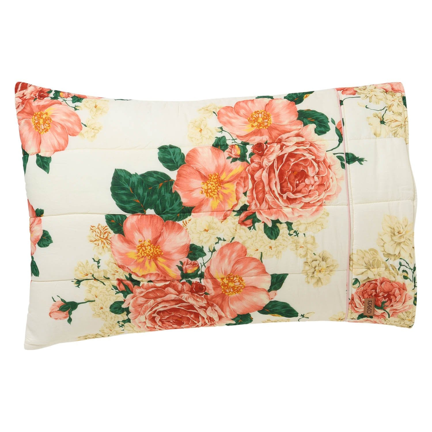 Kip & Co Bed of Roses Quilted Pillowcase Set - The Artisan Storeroom