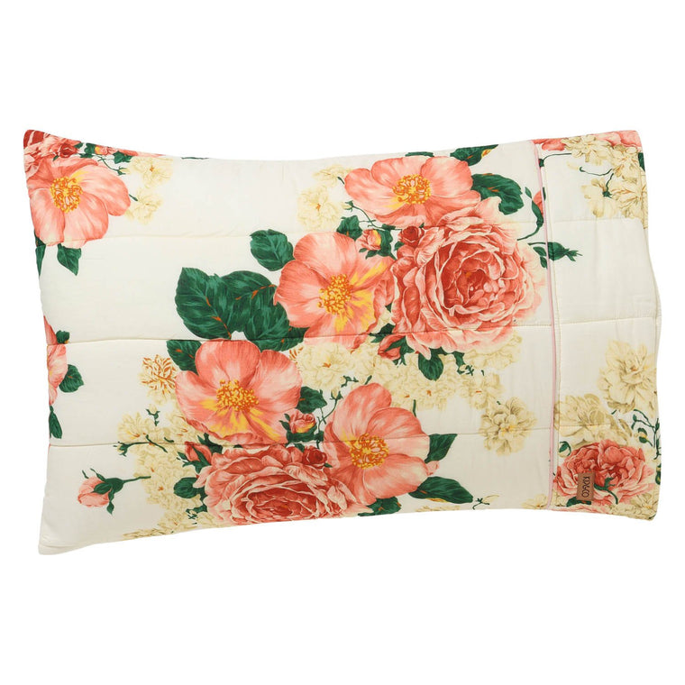 Kip & Co Bed of Roses Quilted Pillowcase Set