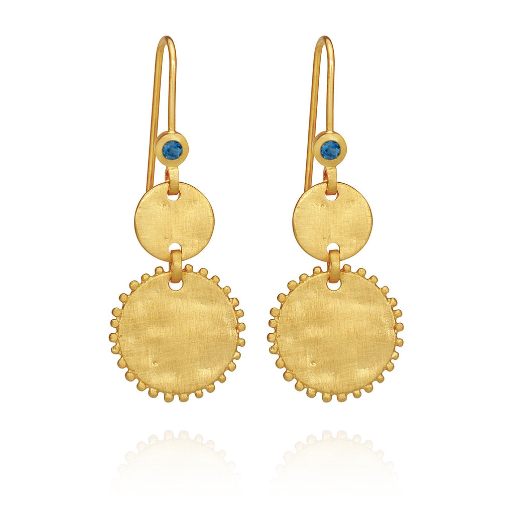 Temple of the Sun Petra Coin Earrings