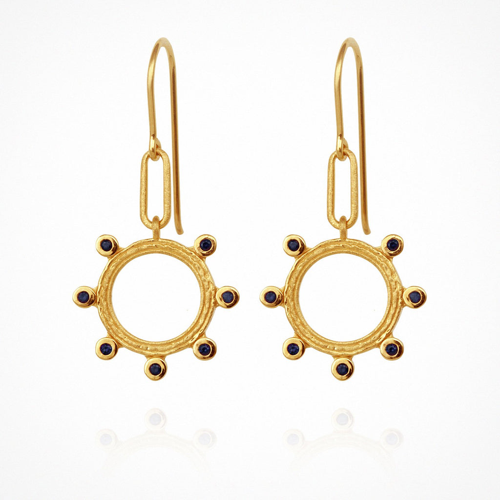 Temple of the Sun Zoe Earrings Gold - The Artisan Storeroom