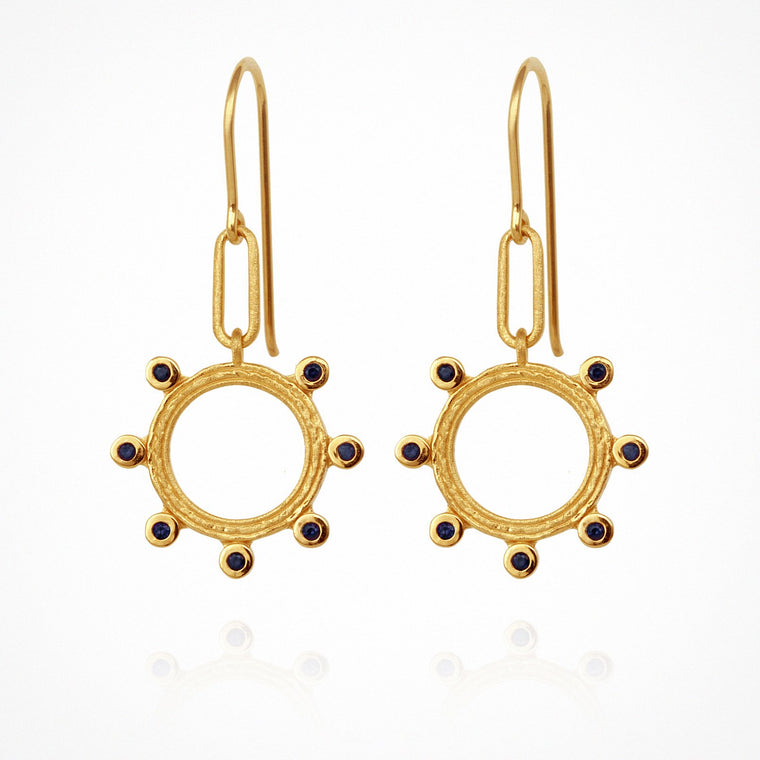Temple of the Sun Zoe Earrings Gold
