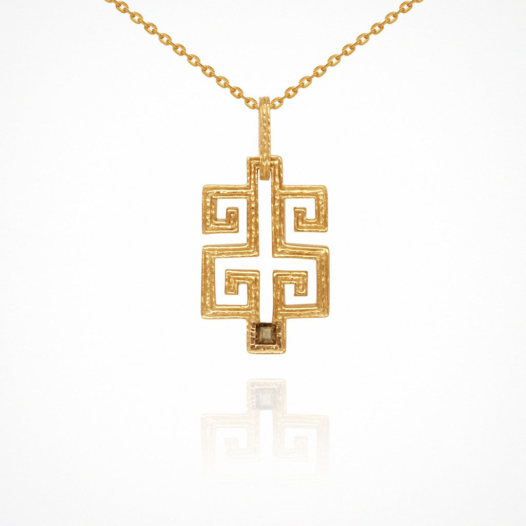 Temple of the Sun Delphi Necklace Gold