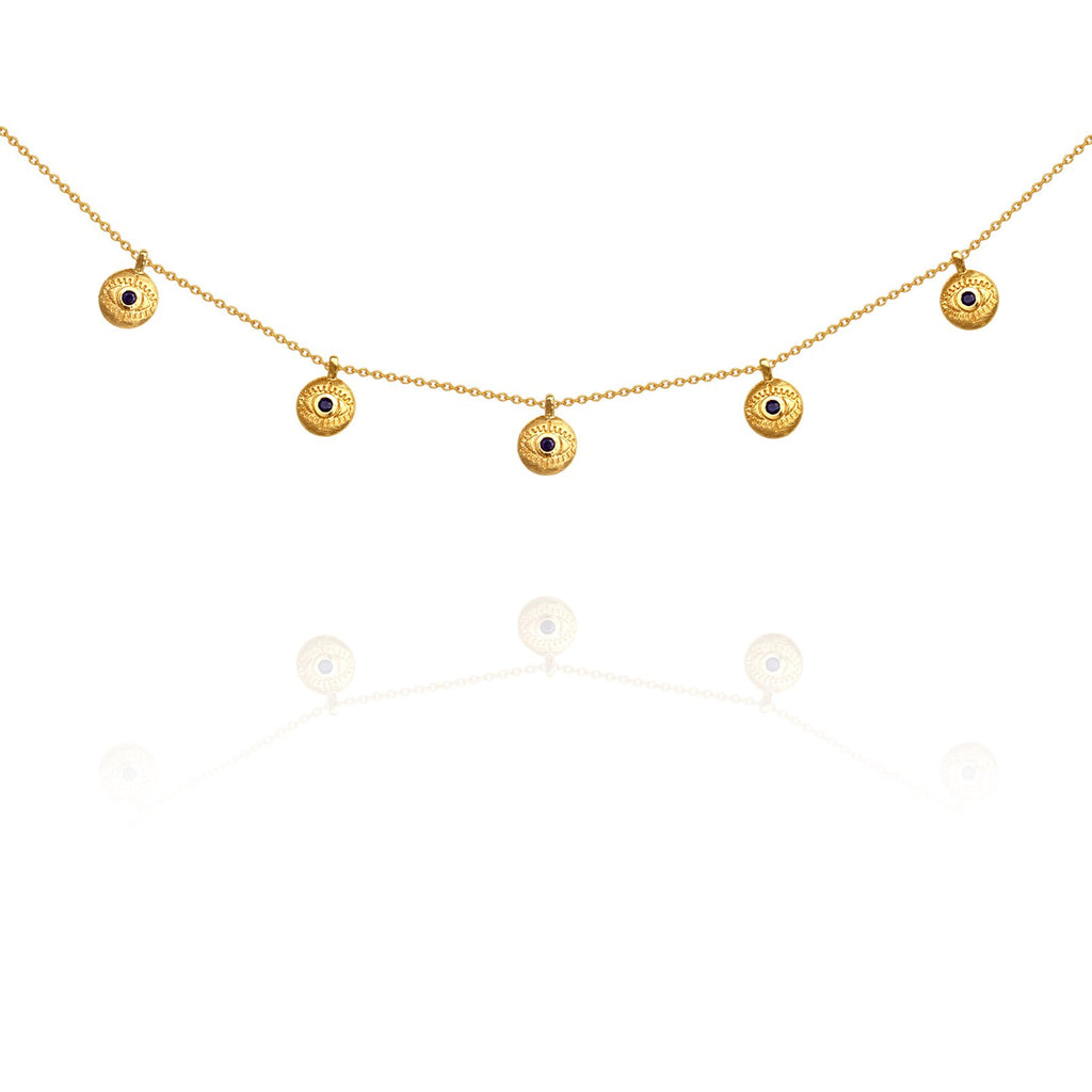 Temple of the Sun Blessing Necklace Gold - The Artisan Storeroom