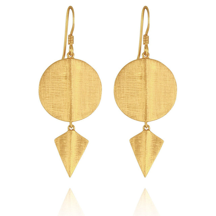 Temple of the Sun Aegean Disc Earrings