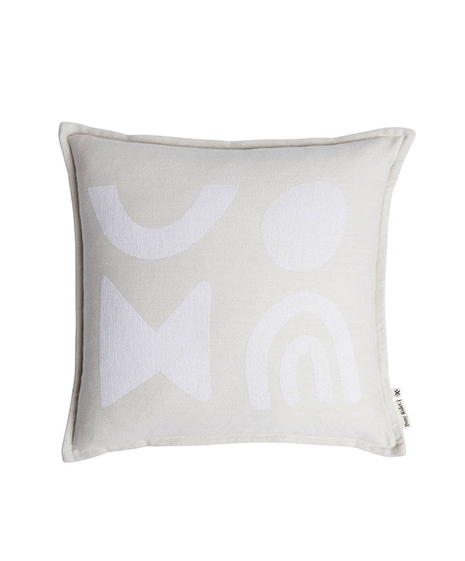 Pony Rider Modern Light Cushion Oats/Tan 55cm x 55cm - The Artisan Storeroom