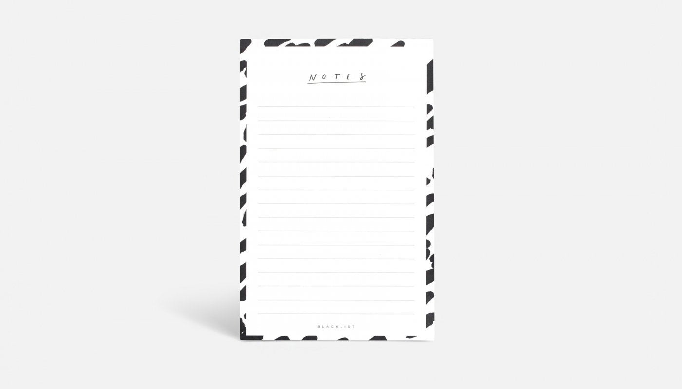 Blacklist Notes Notepad - The Artisan Storeroom