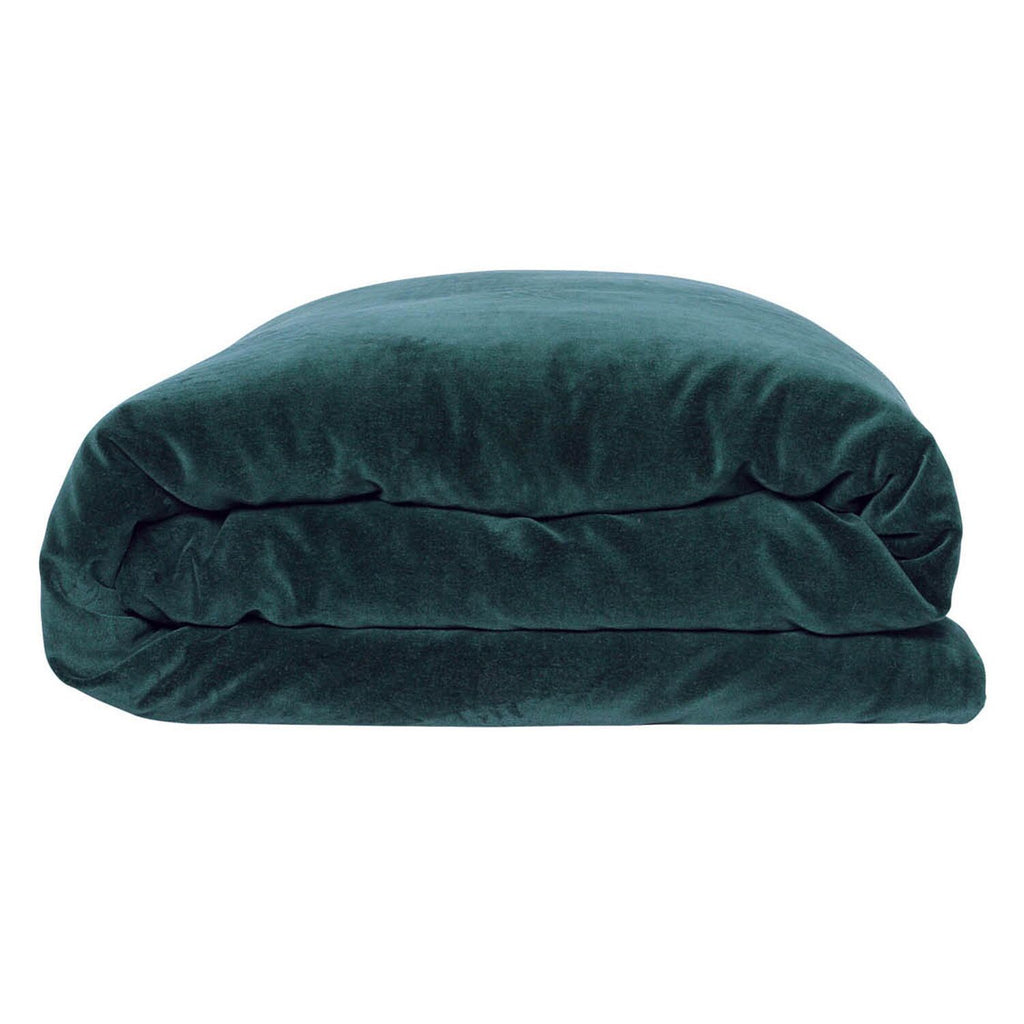 Kip & Co Alpine Green Velvet Quilt Cover- Queen - The Artisan Storeroom