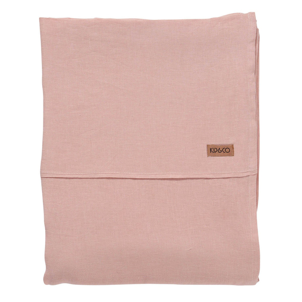 Kip & Co Soft Rose Linen Flat Sheet- Queen - The Artisan Storeroom