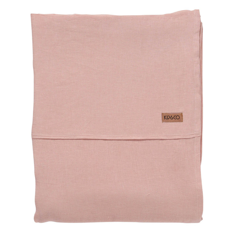 Kip & Co Soft Rose Linen Flat Sheet- Queen