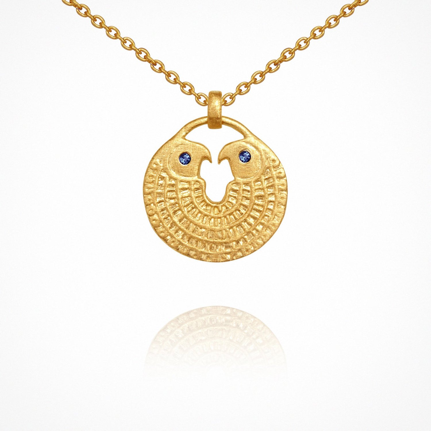 Temple of the Sun Falcon Necklace Gold - The Artisan Storeroom