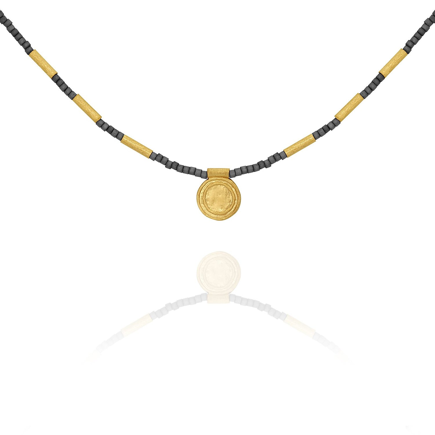 Temple of the Sun Petra Seedbead Necklace Gold - The Artisan Storeroom