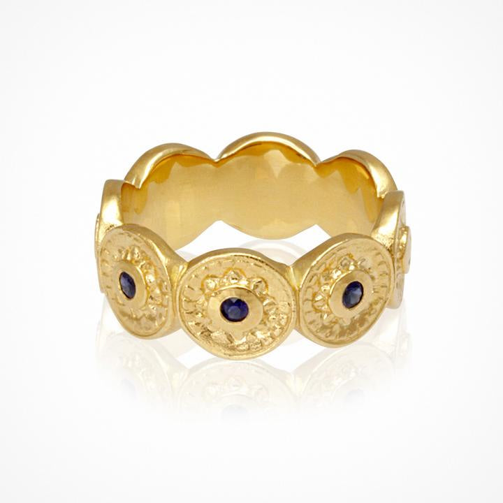 Temple of the Sun Vesta Ring Gold - The Artisan Storeroom