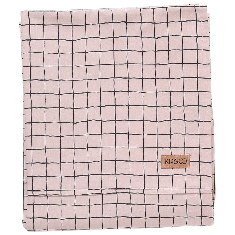 Kip & Co Check 1,2 Cotton Flat Sheet- Queen