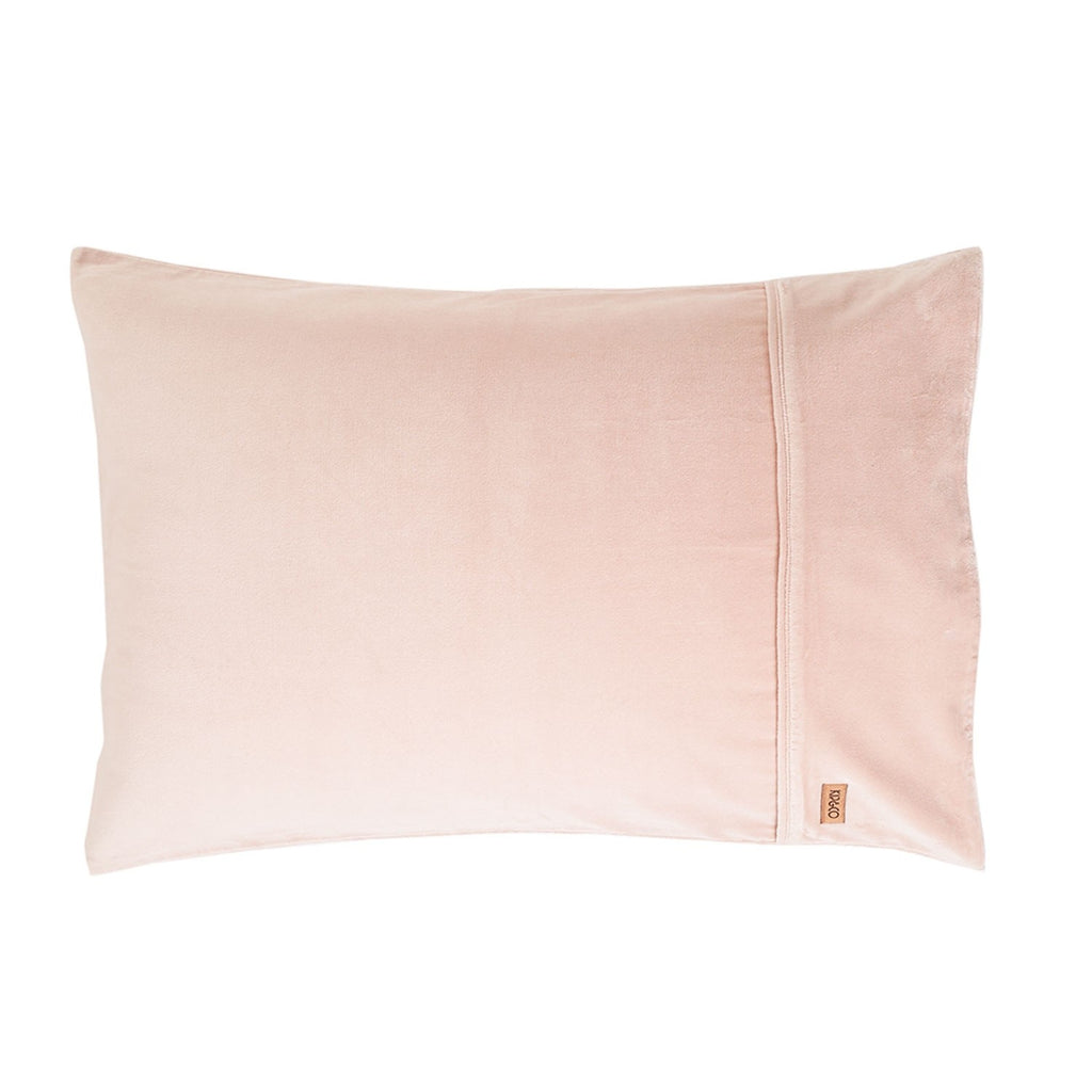 Kip & Co Peach Skin Velvet Pillowcase 2P Set - The Artisan Storeroom