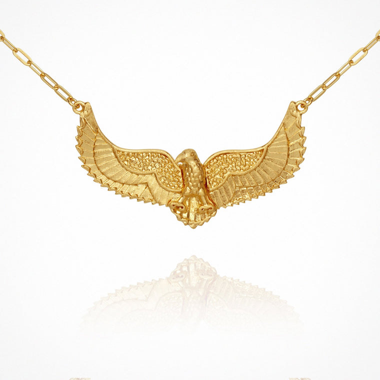 Temple of the Sun Eagle Necklace Gold