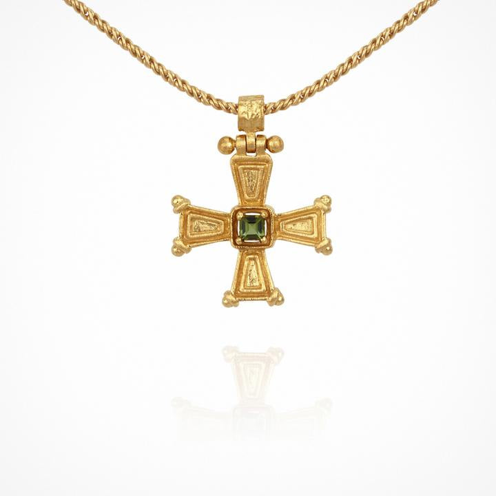 Temple of the Sun Crista Necklace Gold