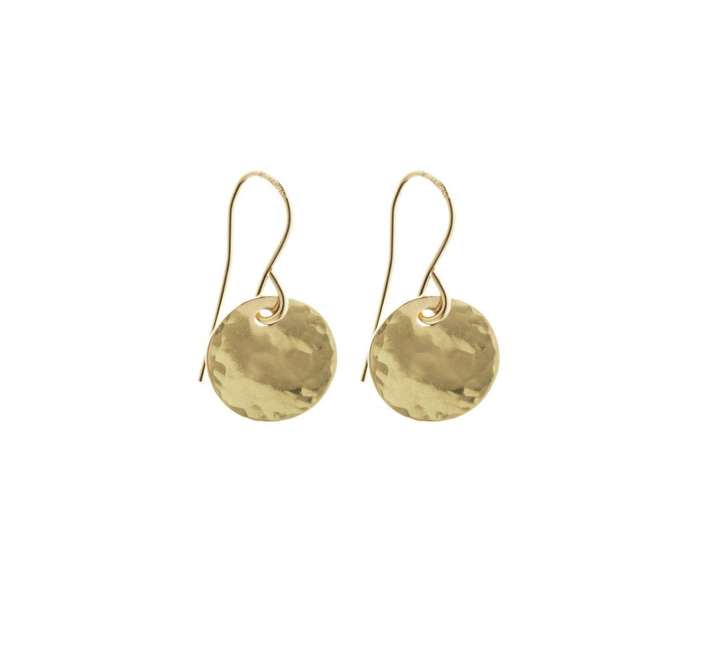Misuzi Hammered Mini Disc Earrings