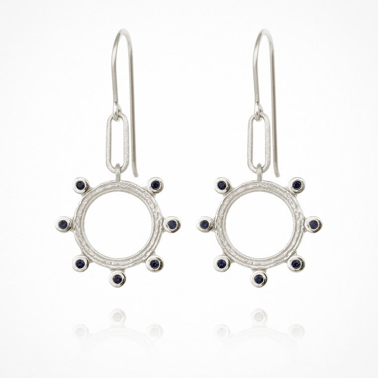 Temple of the Sun Zoe Earrings Silver