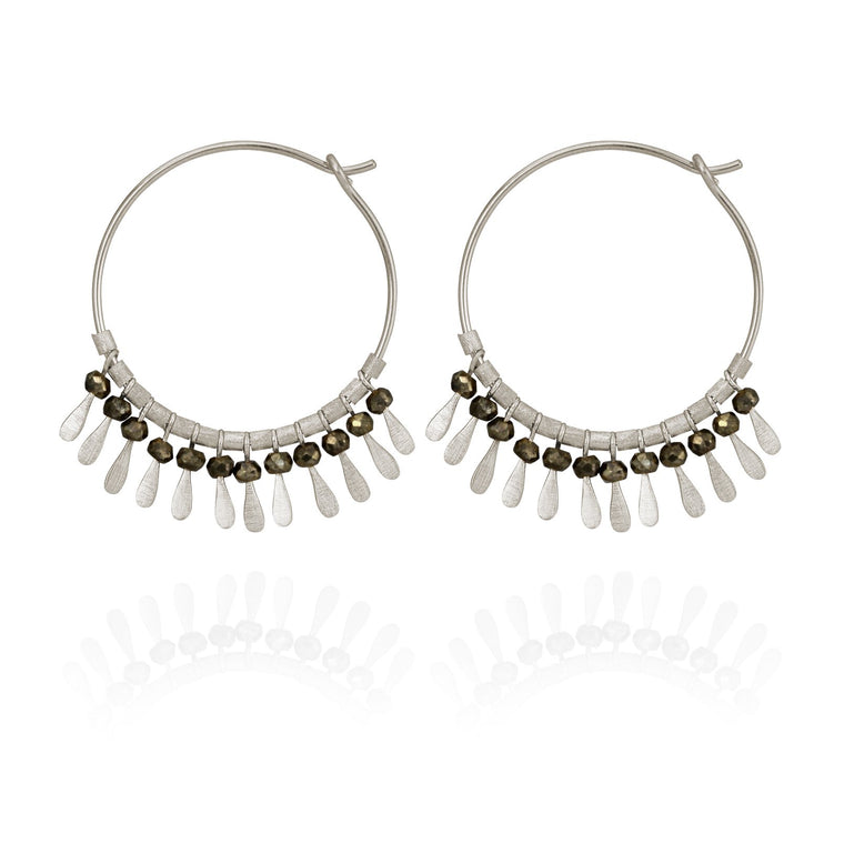 Temple of the Sun Elli Earrings- Silver