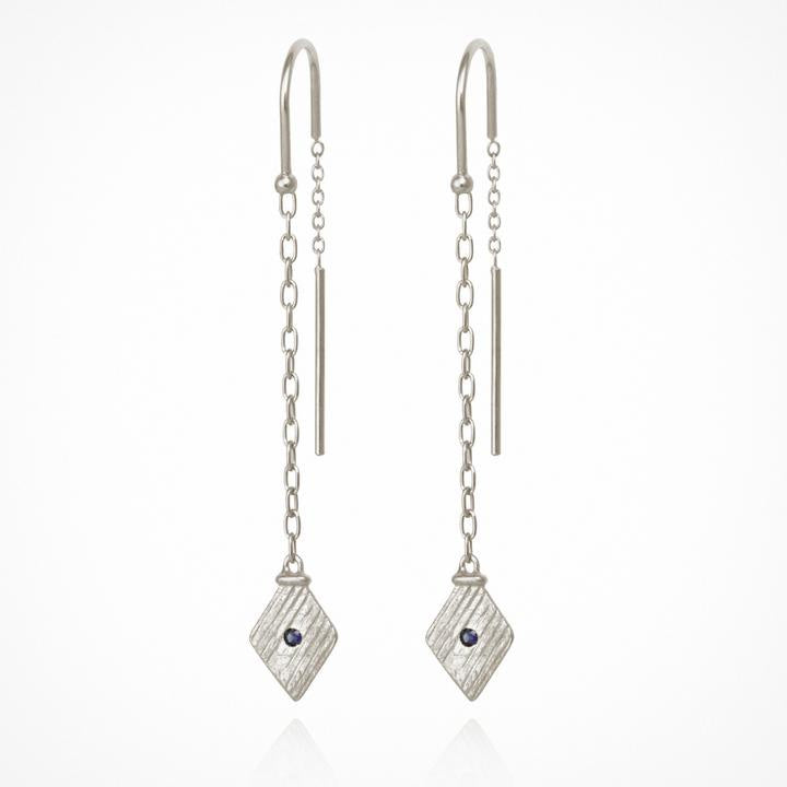 Temple of the Sun Inka Earrings Silver - The Artisan Storeroom