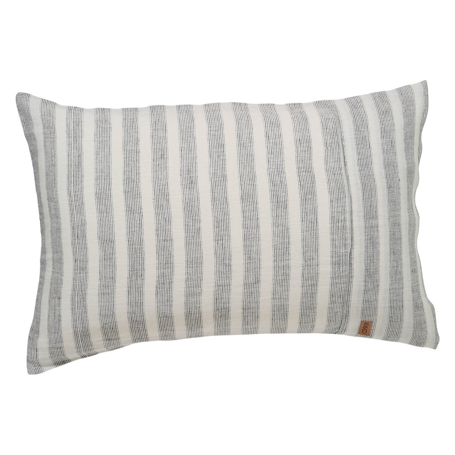 Kip & Co Wrong Side of the Tracks Linen 2P Pillowcase Set - The Artisan Storeroom