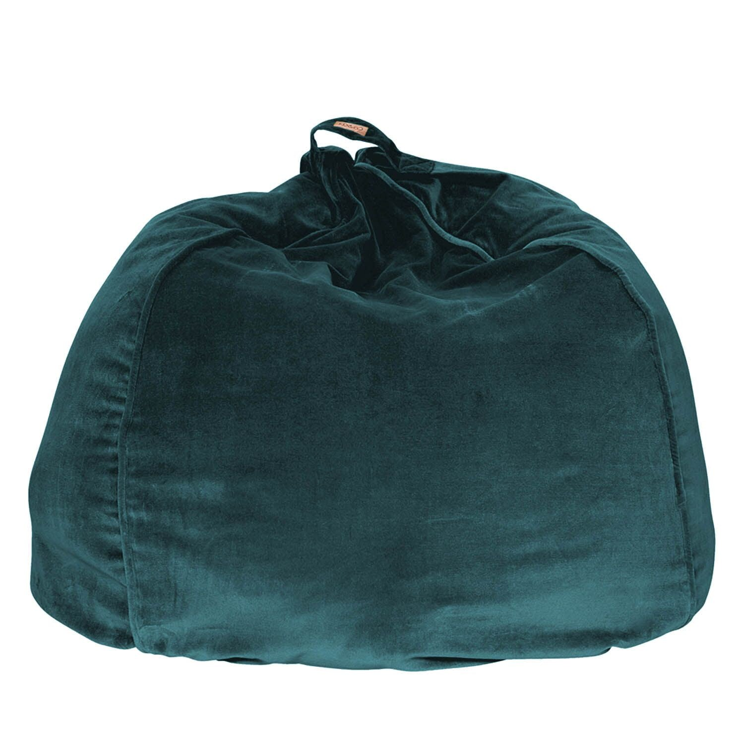 Kip & Co Alpine Green Velvet Beanbag - The Artisan Storeroom