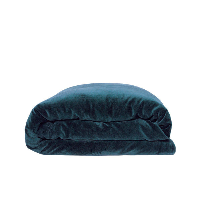 Kip & Co Green Sea Velvet Quilt Cover- Queen