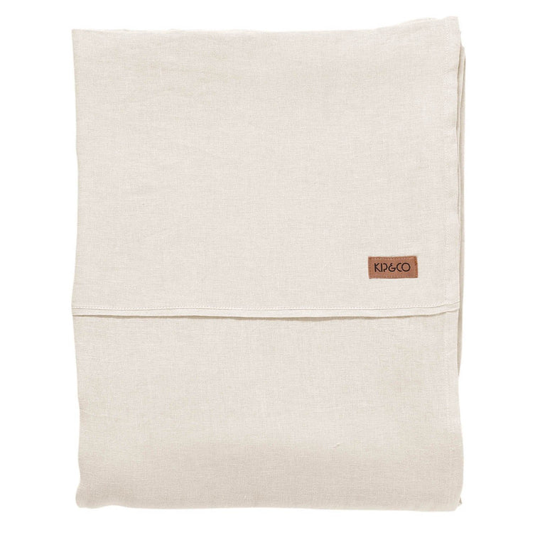 Kip & Co Coconut Linen Flat Sheet- Queen