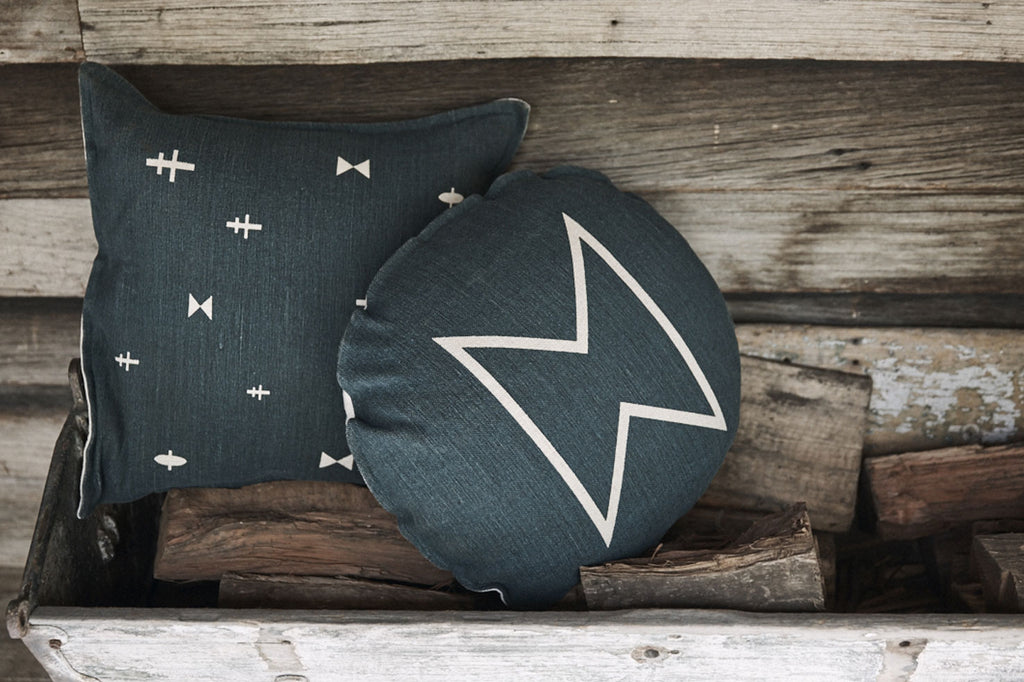 Pony Rider Aerial Dreams Cushion- Mediterranean - The Artisan Storeroom