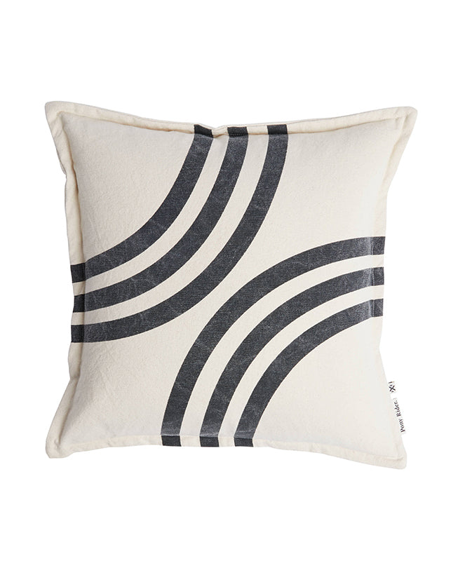 Pony Rider River Bends Cushions Dk Shadow/Oats 45cm x 45cm - The Artisan Storeroom