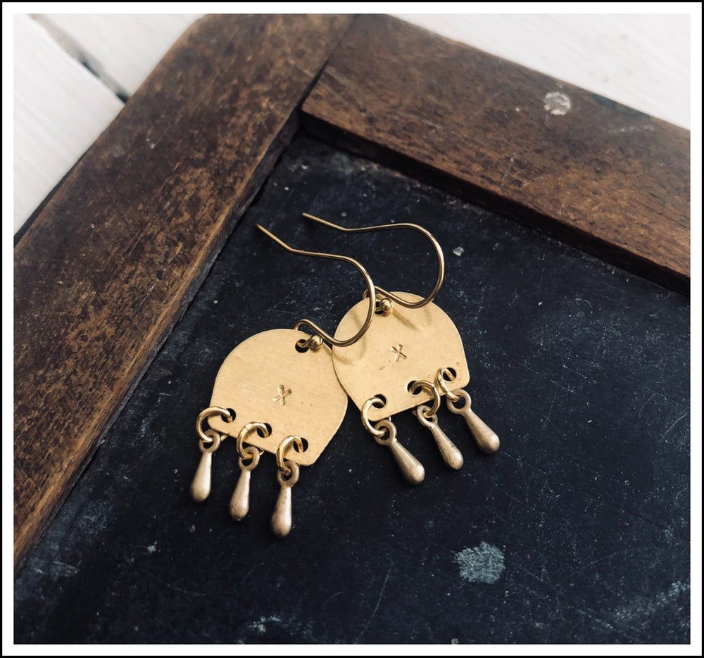 Paird Kissed Moon Beams Earrings - The Artisan Storeroom