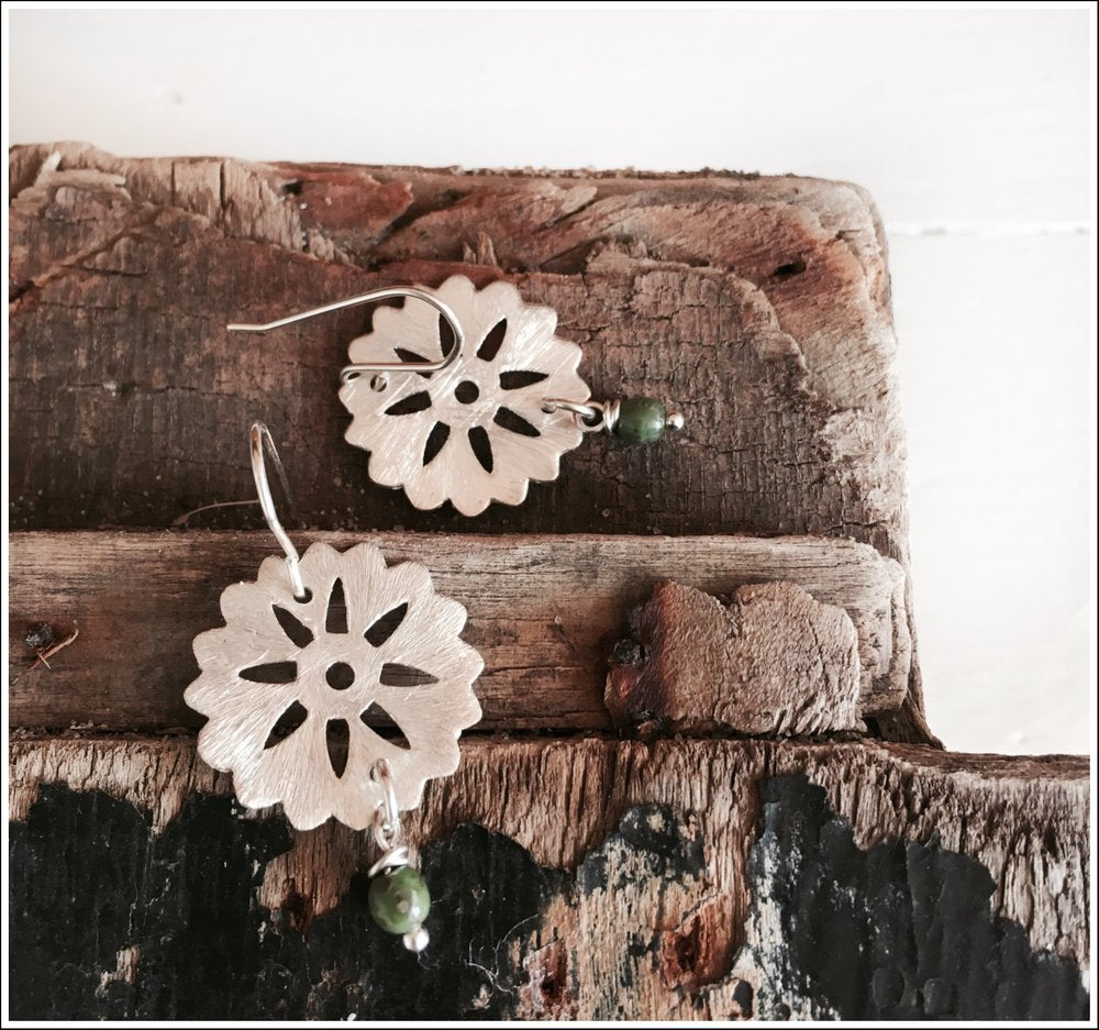 Paird Silver Wheel Earrings - The Artisan Storeroom