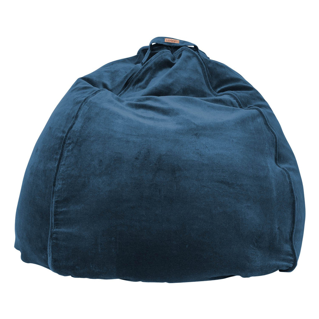 Kip & Co Teal Velvet Beanbag - The Artisan Storeroom
