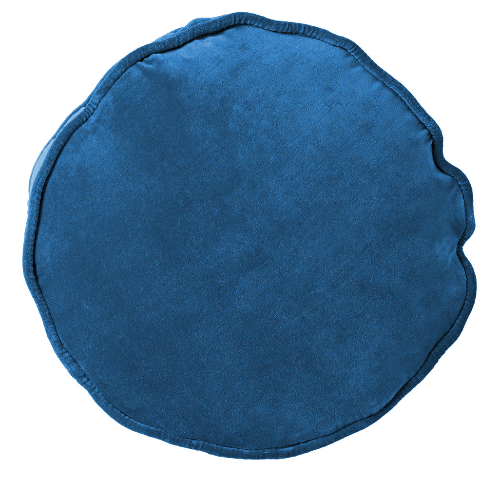 Kip & Co Velvet Pea Cushion Mediterranean Blue - The Artisan Storeroom