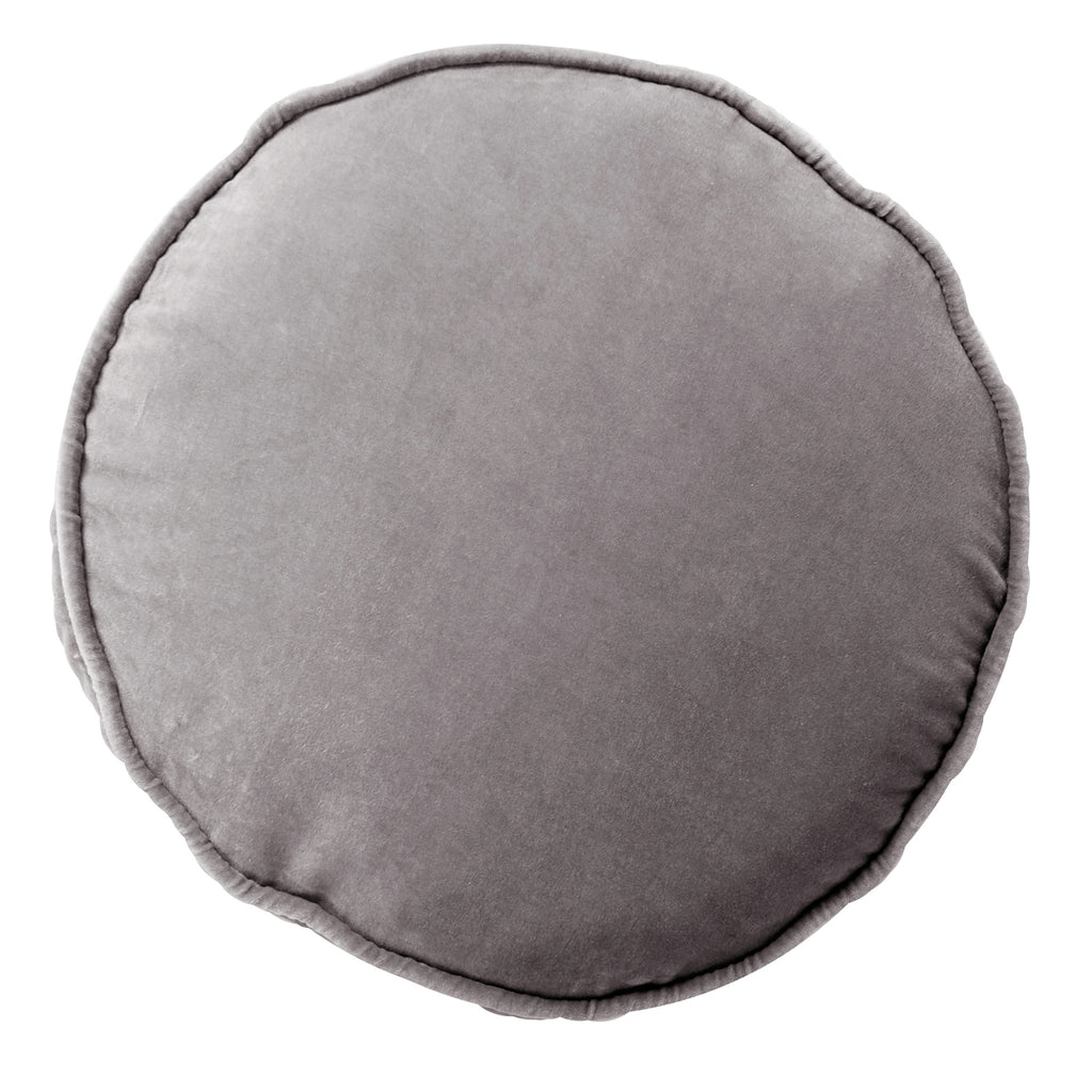 Kip & Co Velvet Pea Cushion Storm Front Grey - The Artisan Storeroom