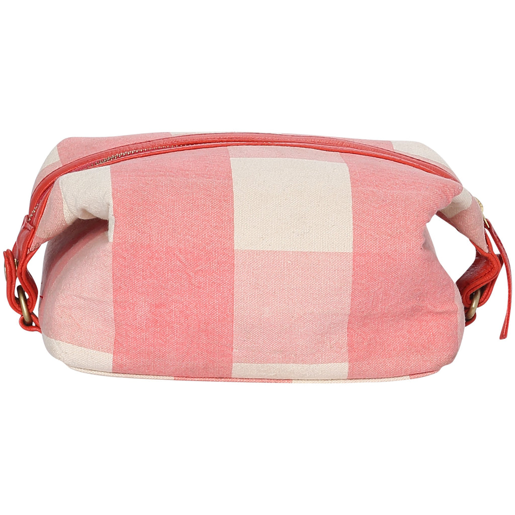 Kip & Co LIPSTICK TARTAN TOILETRY BAG