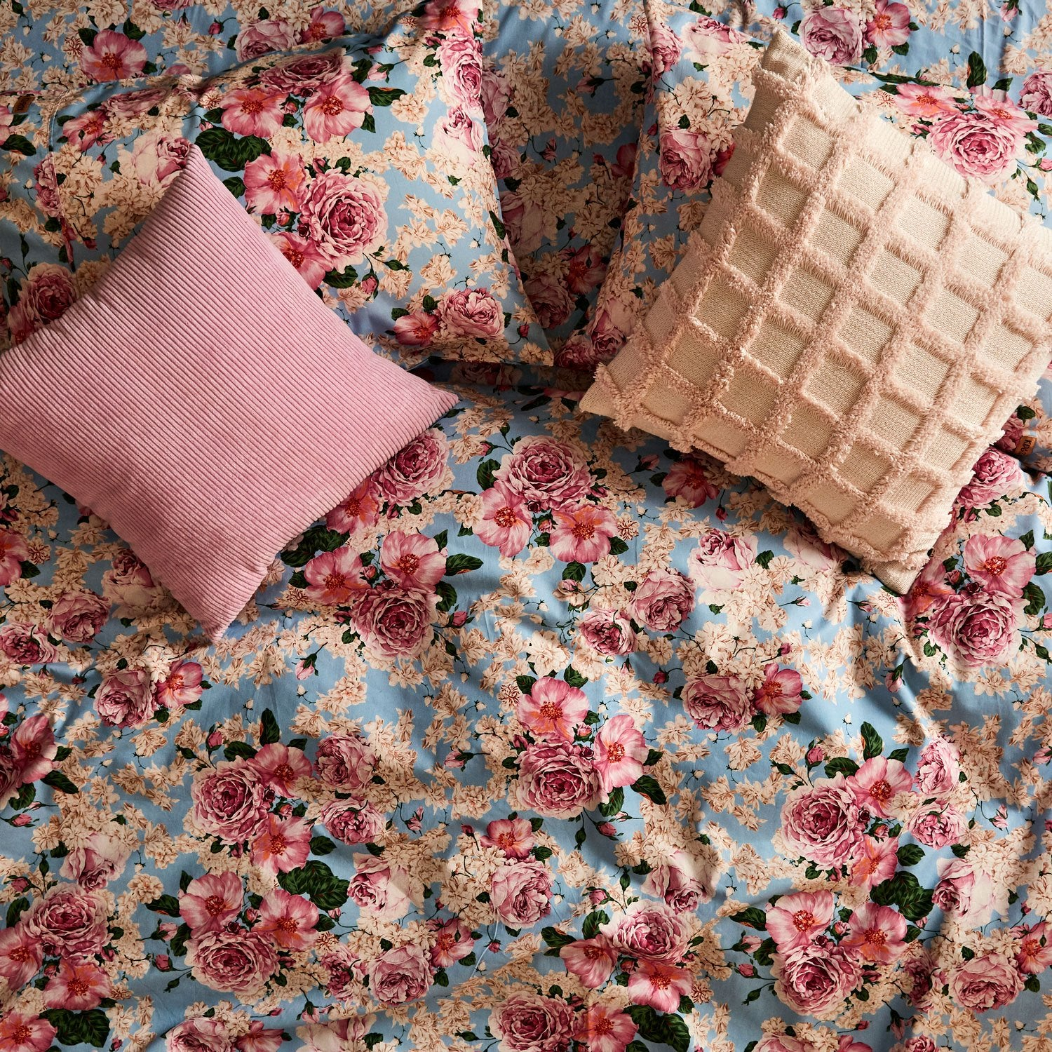 Kip & Co Peony Cotton Flat Sheet - The Artisan Storeroom