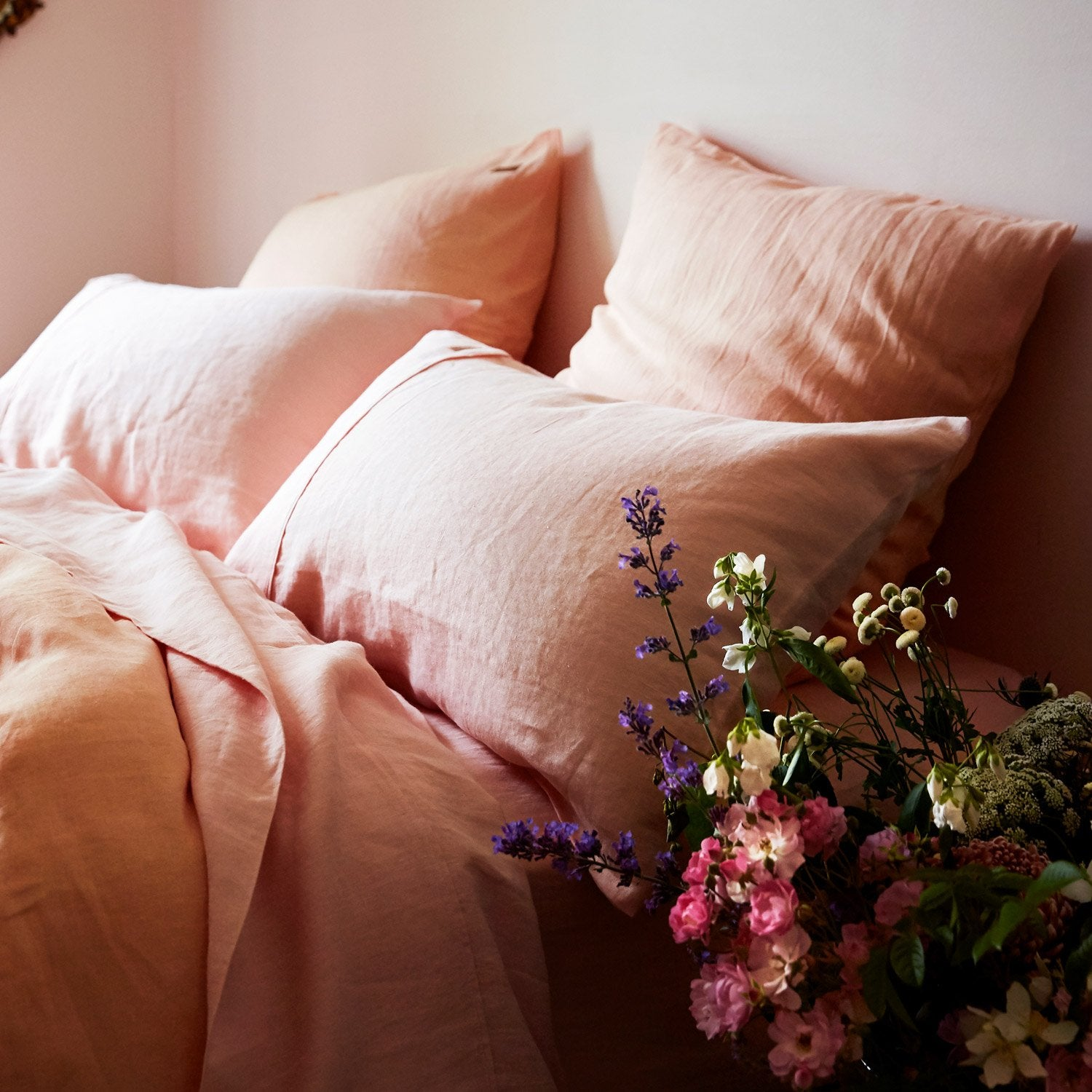 Kip & Co Soft Rose Linen 2P Pillowcase Set - The Artisan Storeroom