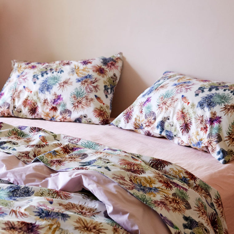 Kip & Co Great Barrier Reef Cotton Quilt Cover- Queen - The Artisan Storeroom