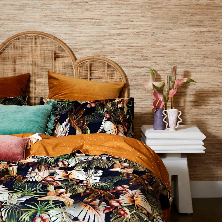 Kip & Co NIGHT JUNGLE COTTON QUILT COVER- QUEEN
