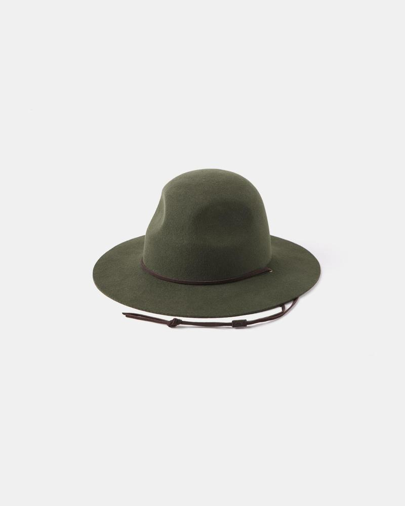 Will and Bear Woodley Wide Brim Scout Hat Forest Green - The Artisan Storeroom