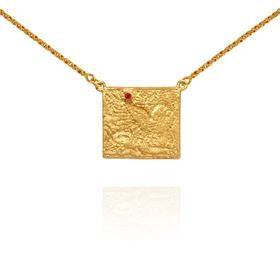Temple of the Sun Pheonix Necklace Gold - The Artisan Storeroom