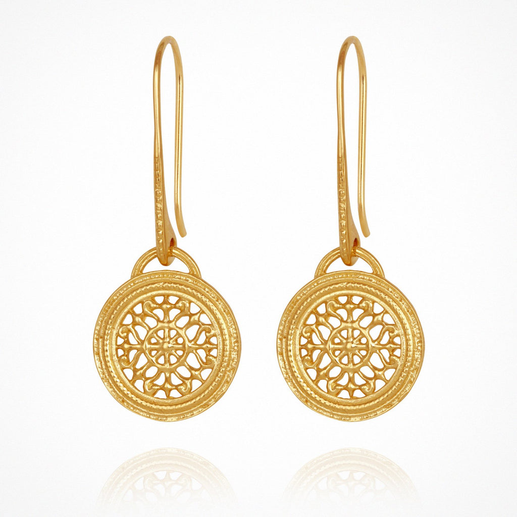 Temple of the Sun Dafni Earrings Gold