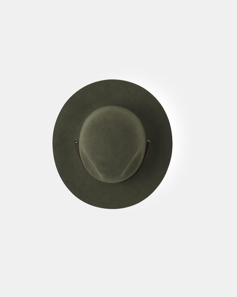 Will and Bear Woodley Wide Brim Scout Hat Forest Green