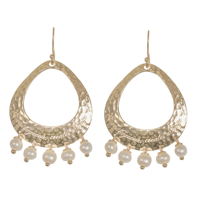 Nicole Fendel Ava Statement Fresh Water Pearl Earrings