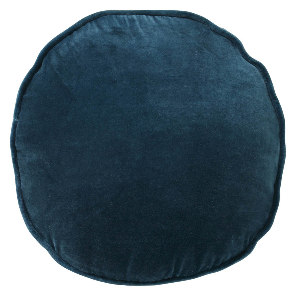 Kip & Co Teal Velvet Pea Cushion - The Artisan Storeroom