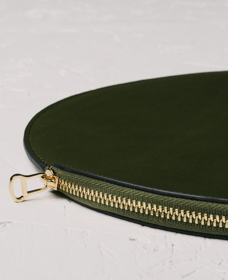 The Horse Moon Clutch in Olive