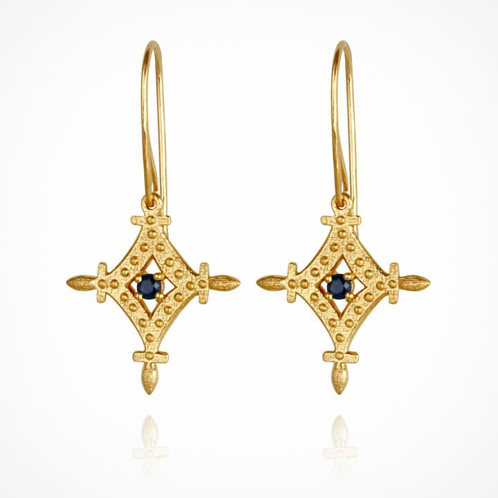 Temple of the Sun Corin Earrings Gold - The Artisan Storeroom